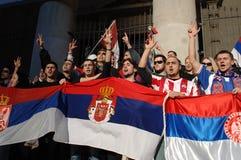 Protestation de l'indépendance de Kosovo Photographie stock libre de droits
