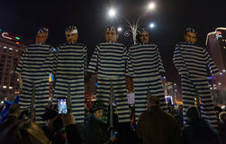 Protestation de la Roumanie, jour 4 images stock