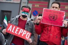 Protestation de la Syrie : Uni rien Image libre de droits