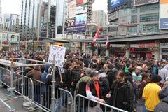 Protestation A de marijuana de Toronto Photos libres de droits