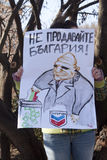 Protestation de national de gaz de schiste Photographie stock libre de droits