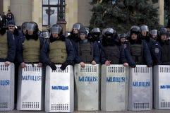 Protestation de ?ntiauthority à Kharkiv, Ukraine Photos libres de droits