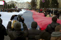 Protestation de ?ntiauthority à Kharkiv, Ukraine Photos stock