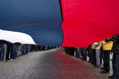 Protestation de ?ntiauthority à Kharkiv, Ukraine Images stock