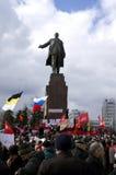 Protestation de ?ntiauthority à Kharkiv, Ukraine Photographie stock libre de droits