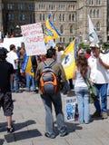 Protestation de partenariat de garantie et de prospérité Image stock