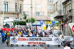 Protestation de personnes Photo libre de droits
