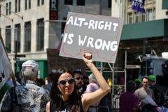 Protestation de Sharia Image libre de droits