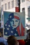 Protestation de Sharia Images libres de droits