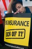 Protestation de soins de santé Photographie stock