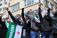 Protestation de Syriens à Istanbul Photo libre de droits