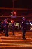 Protestation de tir de Ferguson à Oakland CA Photographie stock libre de droits