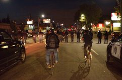 Protestation de tir de Ferguson à Oakland CA Photo libre de droits