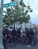 Protestation de tir de Ferguson à Oakland CA Images libres de droits