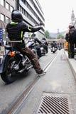 Protestation des clubs de moto Oslo Images stock
