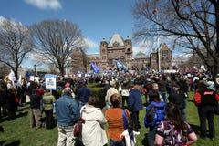 Protestation des syndicats Photo stock