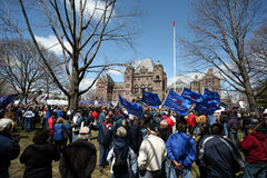 Protestation des syndicats Photographie stock libre de droits