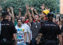 Protestation en Espagne 033 Images stock
