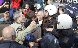 Protestation en Espagne 052 photos libres de droits