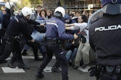 Protestation en Espagne 059 image stock