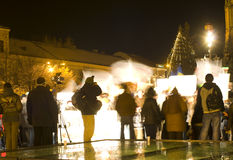 Protestation en Roumanie Photographie stock