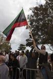 Protestation libyenne d'ambassade image libre de droits