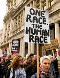 Protestation march - Londres Images stock