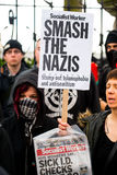Protestation march - Londres Photo stock