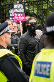 Protestation march - Londres Photos stock