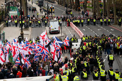 Protestation march - Londres, R-U Images stock