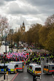 Protestation march - Londres, R-U Image stock