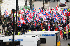 Protestation march - Londres, R-U Photo stock