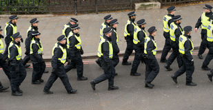 Protestation march - Londres, R-U Photographie stock