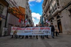 Protestation march - Vigo, Espagne Photo stock