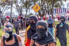 Protestation massive à Brasilia, Brasilia Photo libre de droits