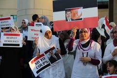 Protestation Mississauga A de l'Egypte Images libres de droits