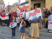 Protestation Mississauga J de l'Egypte Images libres de droits
