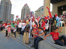 Protestation Mississauga S de l'Egypte Photographie stock