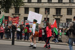 Protestation palestinienne à Londres, Angleterre Image stock