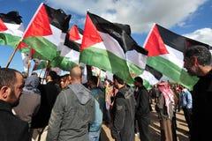 Protestation palestinienne de gens Image stock