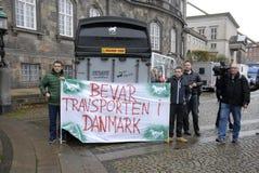 PROTESTATION PAR DES SPORTS DE CHEVAL Photos libres de droits