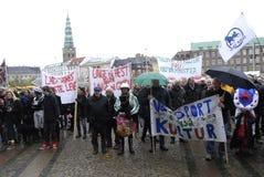 PROTESTATION PAR DES SPORTS DE CHEVAL Image stock