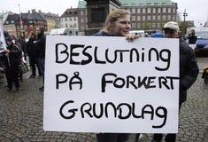 PROTESTATION PAR DES SPORTS DE CHEVAL Images libres de droits