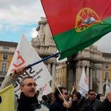 Protestation portugaise de professeurs Image stock