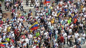 Protestation pour la libert? au Venezuela Contre le communisme, contre le socialisme photo stock