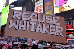Protestation pour protéger Robert Mueller photo stock