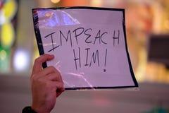 Protestation pour protéger Robert Mueller photos libres de droits