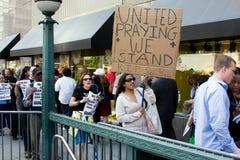 Protestation pour Sean Bell photos stock