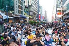 Protestation pro-démocratique en Hong Kong 2014 Photographie stock libre de droits