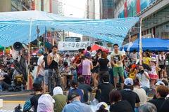 Protestation pro-démocratique en Hong Kong 2014 Photo libre de droits